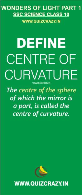 Define Centre of Curvature