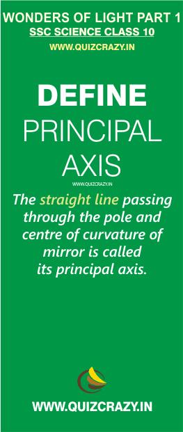 Define principal axis