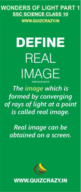 Define real image