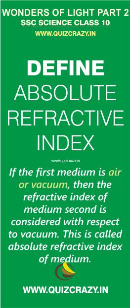 Define absolute refractive index