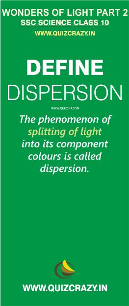 Define dispersion