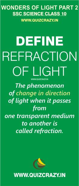 Define refraction of light