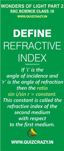 Define refractive index