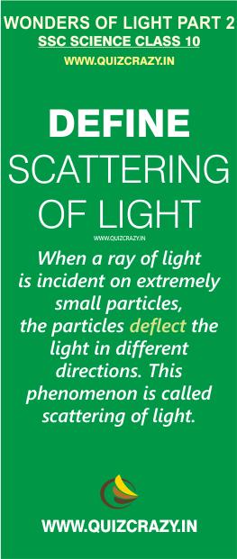 Define scattering of light