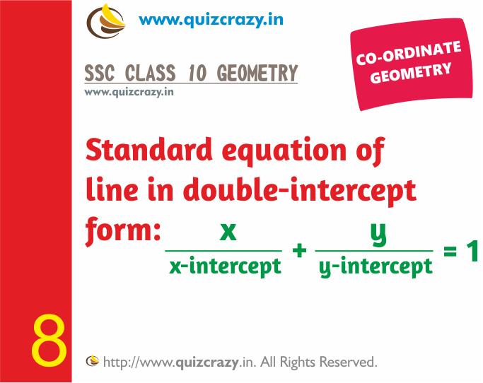 Double intercept form