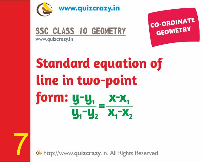 Coordinate Geometry Flashcard Notes Set 03 Ssc Class 10 Geometry