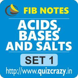 Acids, Bases and Salts Notes Set 1