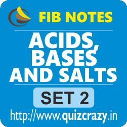 Acids, Bases and Salts Notes Set 2