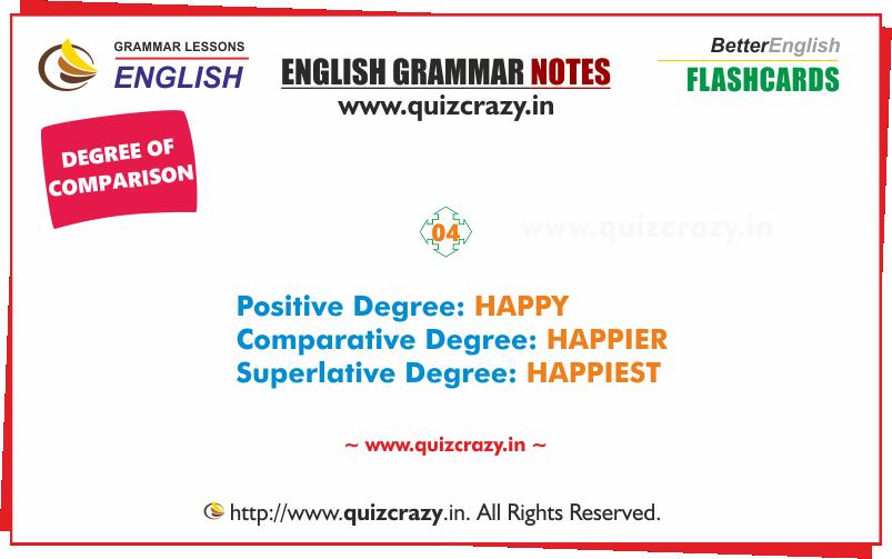 Degree of comparison of HAPPY