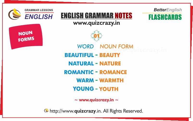 List of Nouns Flashcard 1