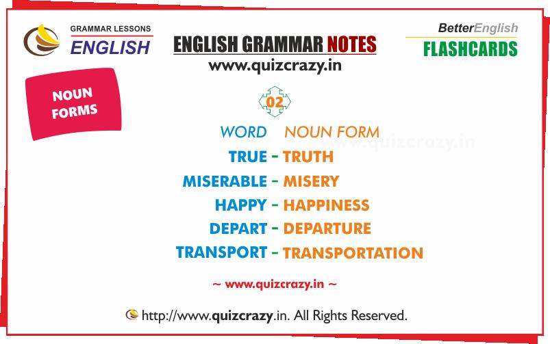 List of Nouns Flashcard 2