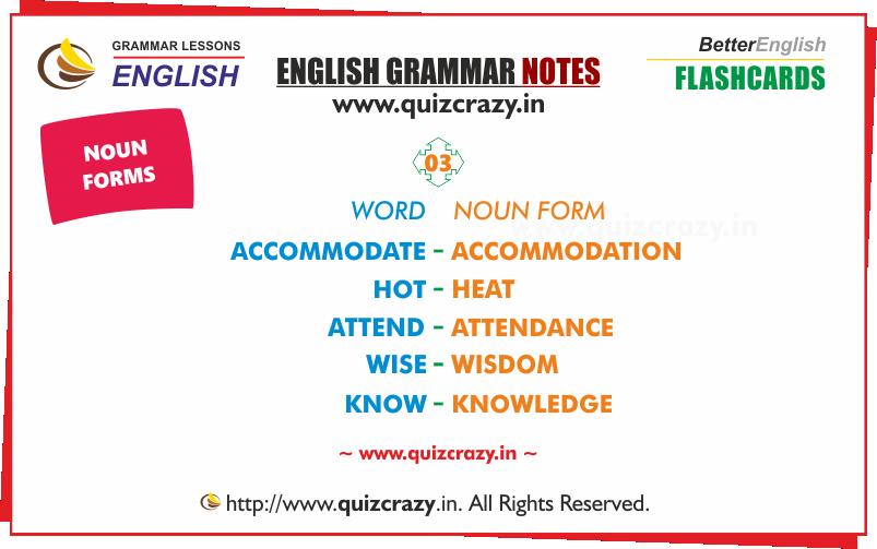 List of Nouns Flashcard 3