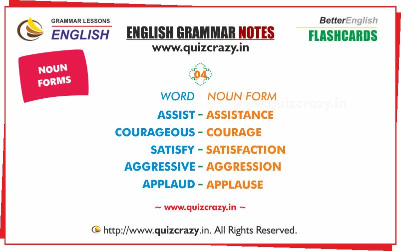 List of Nouns Flashcard 4
