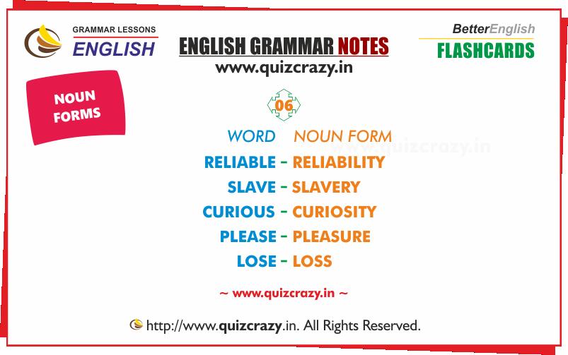 List of Nouns Flashcard 6