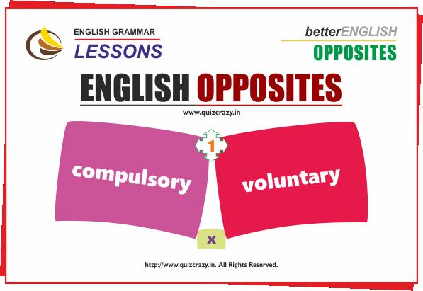 Opposite of compulsory