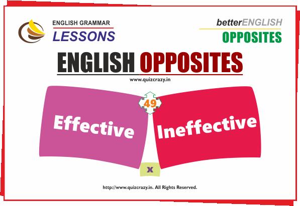 Opposite of effective