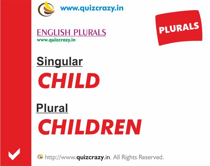 Plural of child