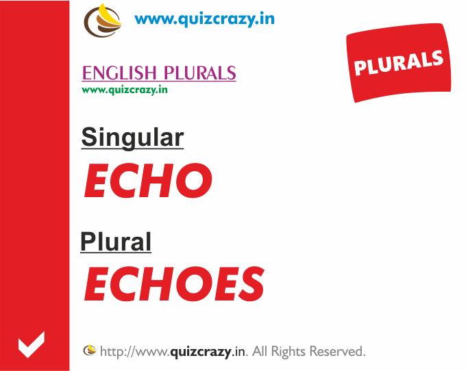 Plural of echo