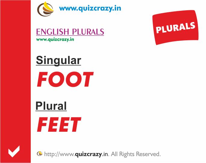Plural of foot