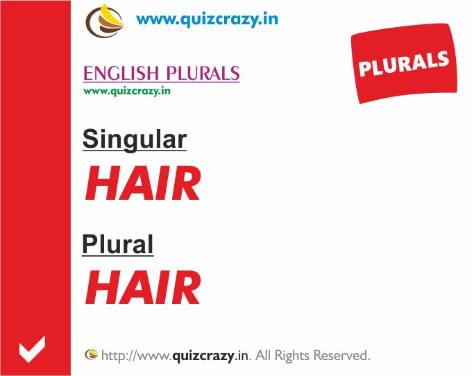 Plural of hair