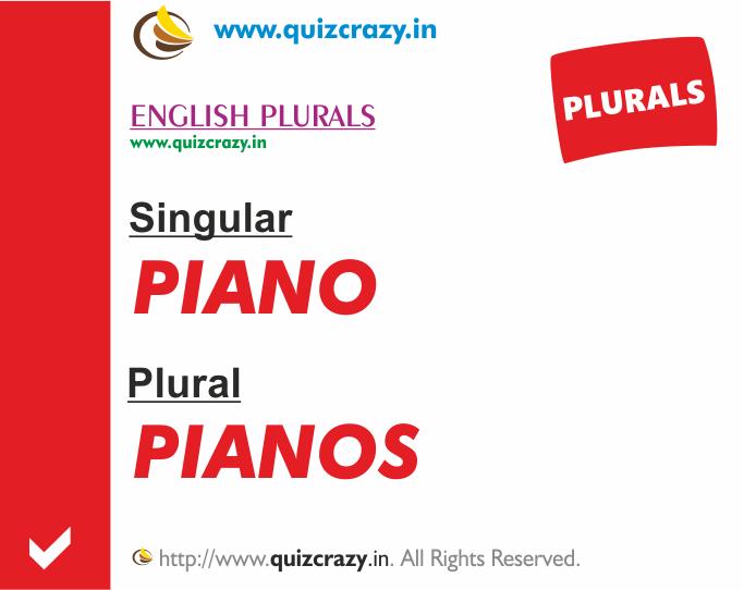 Plural of piano