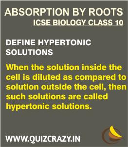 Define Hypertonic solutions