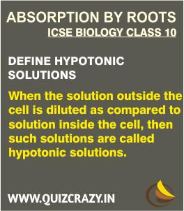 Define Hypotonic solutions