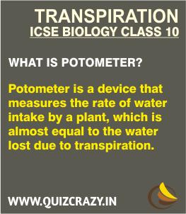 Define Potometer
