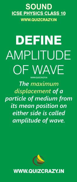 Define amplitude of wave