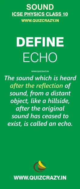 Define echo