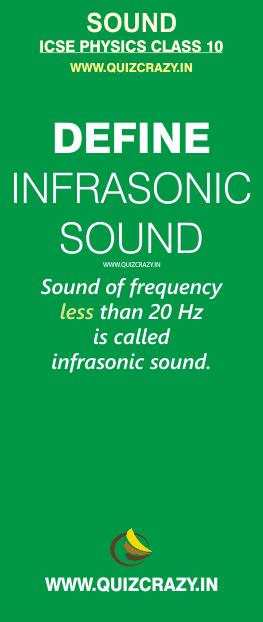 Define infrasonic sound