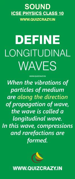 Define longitudinal wave
