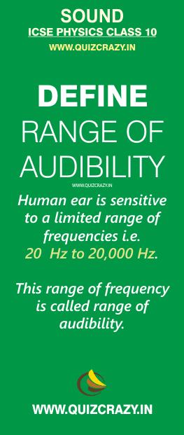 Define range of audibility