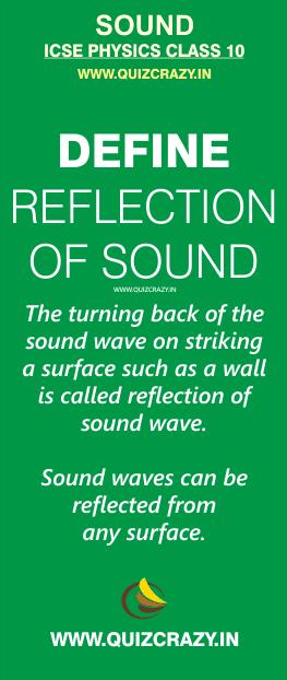 Define reflection of sound wave