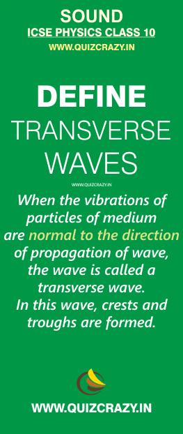 Define transverse wave
