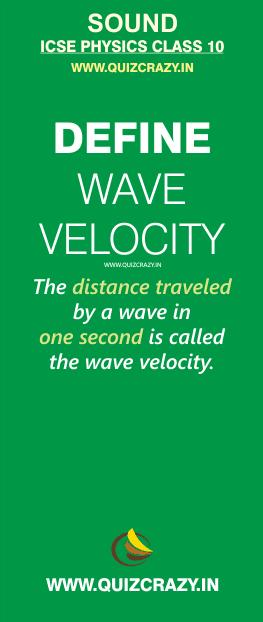 Define wave velocity