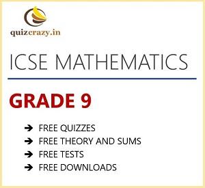 ICSE Mathematics Class 9